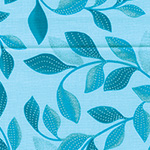 Pearl Reflections - Shimmer Leaves Aqua/Teal
