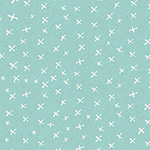 It's Raining Cats and Dogs - Criss Cross in Teal
