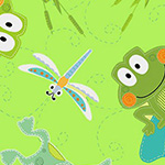 Toadily Cute - Hop Along Frogs in Lime
