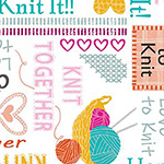 Knit Together - Words to Knit in White