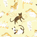 Kitty Playtime in Yellow