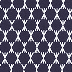 Foxglove - Stem Dot in Navy