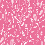 Ferns in Pink