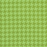 Ginger Snap - Houndstooth in Green