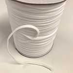 Elastic - Soft Round Elastic in White