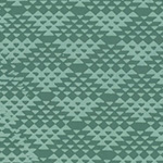 Indah Batiks - Jagged Pattern in Mint
