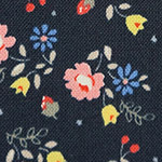Lighthearted - Small Flowers - Pink on Navy