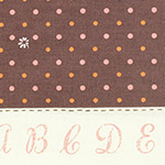 Lighthearted - Dots & Flowers in Brown