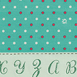 Lighthearted - Dots & Flowers in Teal