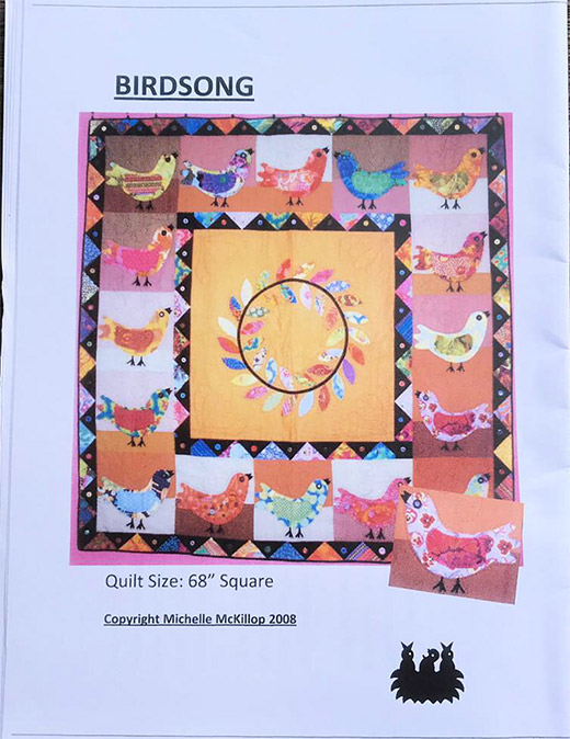 68 inch square Birdsong Quilt Pattern - Click Image to Close