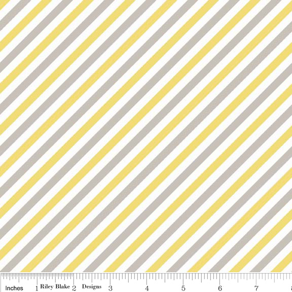 Riley Blake Designs - Boy Stripes in Yellow - Click Image to Close
