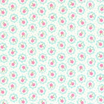 Flower Sugar - Tiny Flowers in White/Aqua