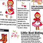 Little Heroines - Red Riding Hood and Text on White
