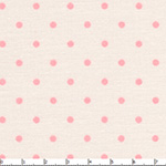 Polka Dots - Dark Pink on Cream