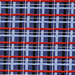 Radiant Girl - Tartan in Metallic Blue/Black