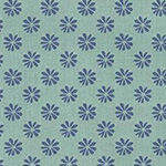 The English Garden - Floral Dot in blue