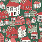 A Festive Collection - Yule Town in Green