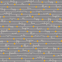 Gigi Blooms - Happy Notes in Gray
