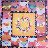 68 inch square Birdsong Quilt Pattern