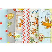 Fox Playground in Grey - Fat Quarter Bundle