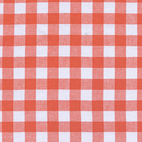 Checkers - Half Inch Gingham in Coral