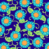 Button Flowers in Navy