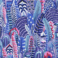 Kaffe Fassett Collective - Feathers in Cool