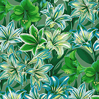 Kaffe Fassett Collective - Amaryllis in Green