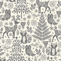 Scandi 2019 - Forest Animals in Grey