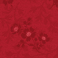 American Beauty - Large Floral Coordinate in Red
