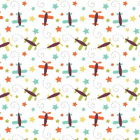 Riley Blake Designs - Boy Planes in Aqua