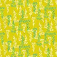 Flower Doodles - Delicate Floral in Chartreuse