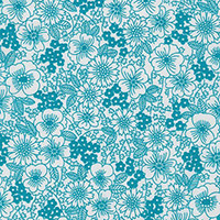 London Calling 6 - Drawn Flowers in Teal