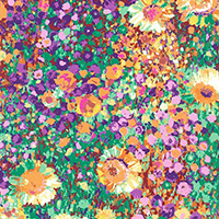 Painterly Petals - Floral Canvas in Summer