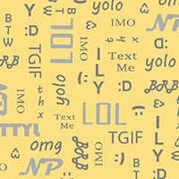 A Shout, A Whisper, A Text - Text Time Print in Yellow