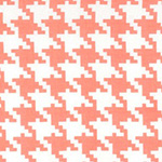 Everyday Houndstooth in Peach
