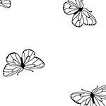 Ramblings Fun - Butterflies in White
