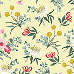Aussie Friends - Floral in Yellow