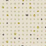 Neko 2 - Mini Paw Prints in Cream - Metallic