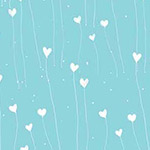 Gift of Friendship - Hearts in Light Teal