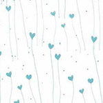 Gift of Friendship - Hearts in White/Teal