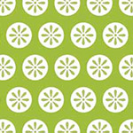 Fancywork Box - Daisy Dots in Green
