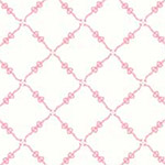 Fancywork Box - Ribbon and Bow Lattice in Pink
