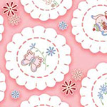 Fancywork Box - Doilies in Pink
