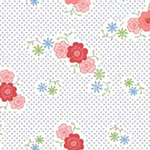 Fancywork Box - Floral in Light Blue