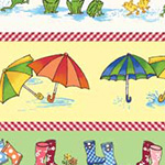 Puddle Jumpers - Boots, Umbrellas and Frogs in Multi
