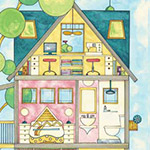 Home for You and Me - House 60cm Panel
