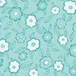 Frakturs and Flourishes - Floral in Aqua