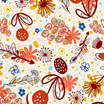 Flower Doodles - Potpourri in Brick