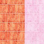 Jetty - Wall Tile in Nectarine (FWoF)